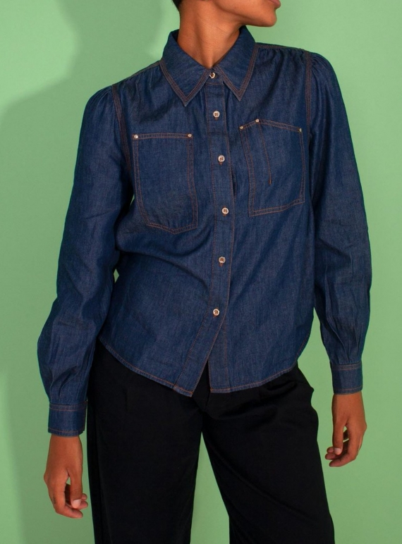 Young British Designers: NINO SHIRT. Denim - Last one (6) by LF Markey