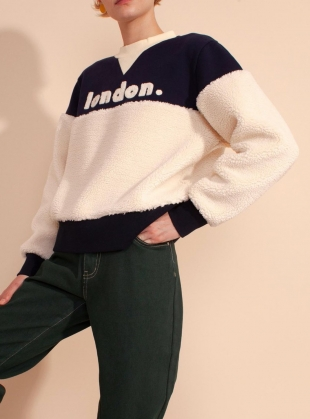 LONDON SWEAT. Sherpa/Navy by LF Markey