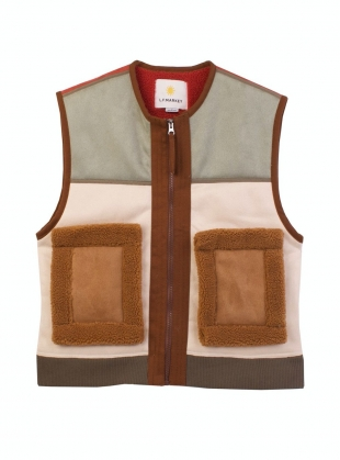 HANK VEGAN SHEARLING WAISTCOAT - Last one (L) by LF Markey