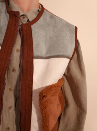 Young British Designers: HANK VEGAN SHEARLING WAISTCOAT - Last one (L) by LF Markey