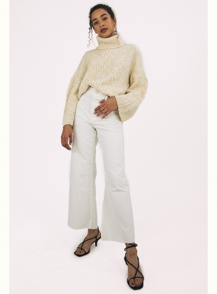 Young British Designers: CORAL JUMPER. Winter White by Cara & The Sky