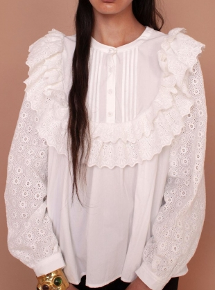 POPPY SHIRT. White by Meadows