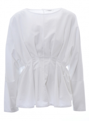 Young British Designers: RAQUEL ORGANIC COTTON & TENCEL WHITE TOP by Beaumont Organic