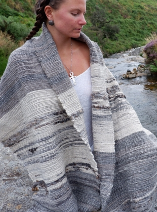 RIVER STONE I SHAWL by WILD ROSE WEAVING