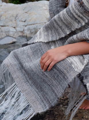 RIVER STONE II SHAWL by WILD ROSE WEAVING