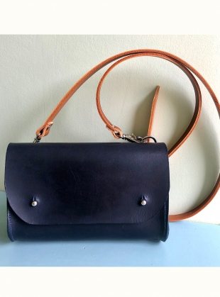 Young British Designers: Amy Satchel. Smooth Navy with Tan Strap by Als London