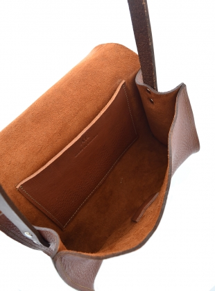 Young British Designers: RENE SATCHEL. Tan with Chocolate Strap by Als London