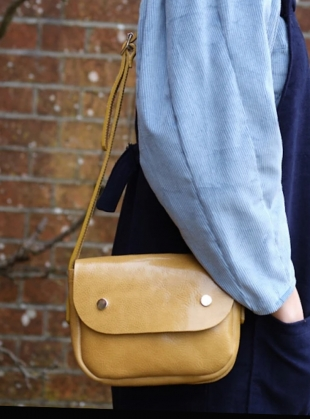 Young British Designers: Chartreuse ORBED POP BAG by Kate Sheridan