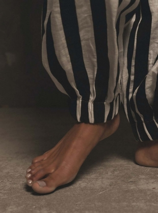 Young British Designers: ELEMENTAL TROUSERS. Stripe by A Perfect Nomad