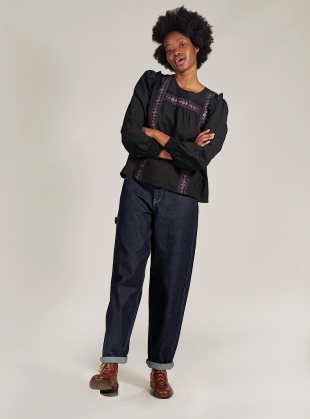Young British Designers: MAYA JEANS. Recycled Indigo by SIDELINE