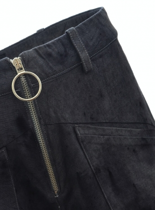 Young British Designers: ALL NIGHTER DRAWSTRING PANTS. Washed Black by Bad Habits London