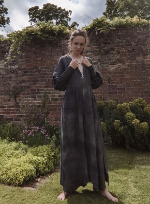Young British Designers: SHROOMED JUMPSUIT. Washed Black by Bad Habits London