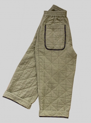 JOAN QUILTED TROUSERS. Rushes by Cawley