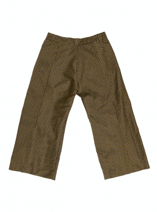 Young British Designers: MELISSA RECYCLED JACQUARD MIDI TROUSER by Anciela