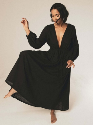 Young British Designers: WILD HEART Black Dress by A Perfect Nomad