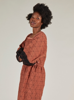 Young British Designers: AUGUST DRESS. Rust  by SIDELINE