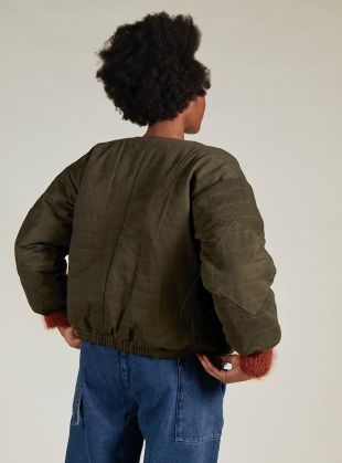 Young British Designers: DREAM JACKET. Natural/Olive reversible. - Last one (XS) by SIDELINE