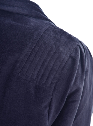 Young British Designers: BUTTON UP VELVET JACKET. Navy  by Tallulah & Hope