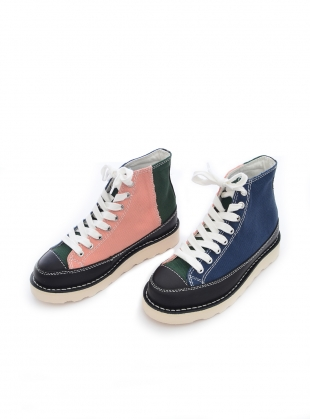 Young British Designers: ROOPA TENCEL. Navy/Green/Pink by Good News