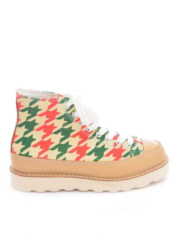 Young British Designers: ROOPA DOGSTOOTH. Red/Green by Good News