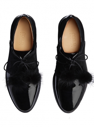 Young British Designers: POMME NOIR. Black Patent by Rogue Matilda