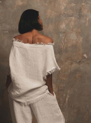 Young British Designers: FLOW TOP. White by A Perfect Nomad