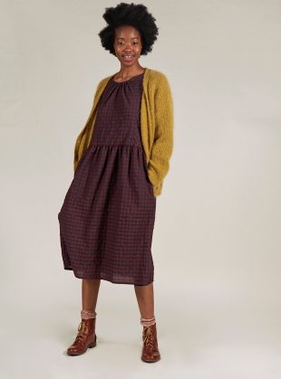 Young British Designers: MOLLY CARDIGAN. Mustard - Last one (XS) by SIDELINE