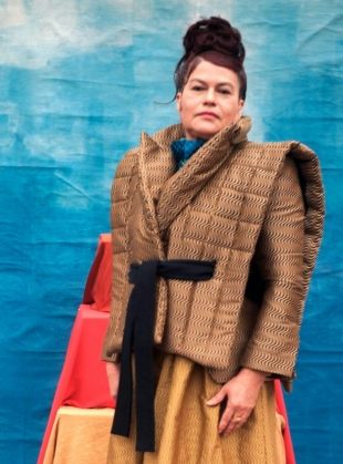 Young British Designers: MELISSA RECYCLED JACQUARD QUILTED JACKET by Anciela