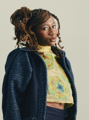 Young British Designers: ADALFA EMBELLISHED TOP. Yellow Multi by Anciela