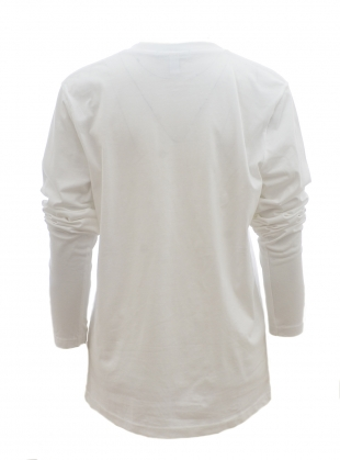 Young British Designers: VACCELINE Long Sleeved TEE. White by Simeon Farrar