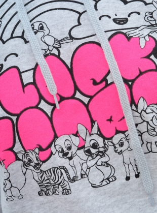 Young British Designers: 'FAMILY' CROPPED HOODIE. Grey by Simeon Farrar