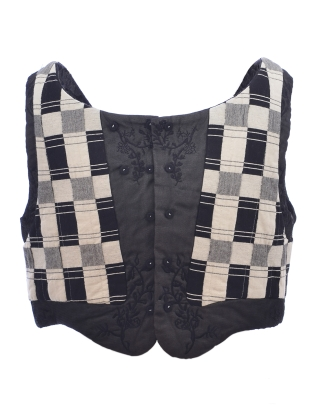 Young British Designers: QUILTED WAISTCOAT. Black and White by Renli Su