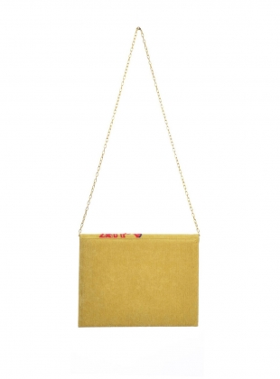 Young British Designers: Poppy Hand Embellished Clutch. Soft Yellow. - last one by Sophie Pittom