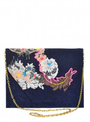 Poppy Hand Embellished Clutch. Navy. - Sold out by Sophie Pittom