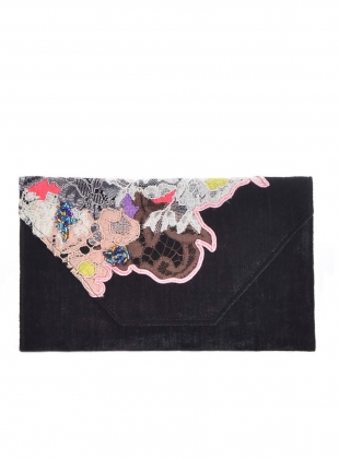 Young British Designers: Ava Wallet Clutch. Black. by Sophie Pittom
