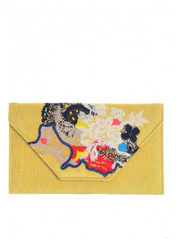 Young British Designers: Ava Wallet Clutch. Soft Yellow. by Sophie Pittom