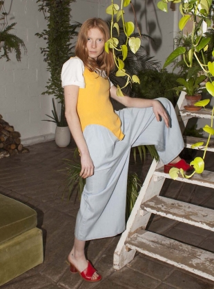 LACHIE Trousers in Chambray by LF Markey