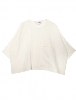 Young British Designers: HARLEY Top in Ivory Linen - Last one by LF Markey