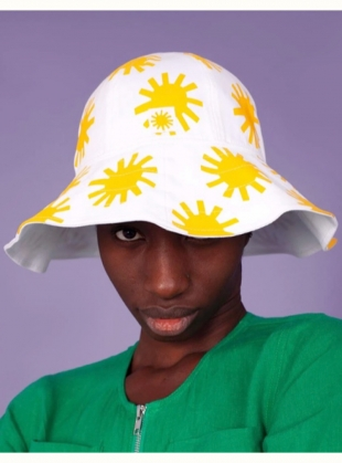 Printed Sun Hat by LF Markey