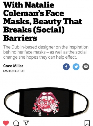 Young British Designers: PRINTED JEWEL Barrier Mask by Natalie B Coleman