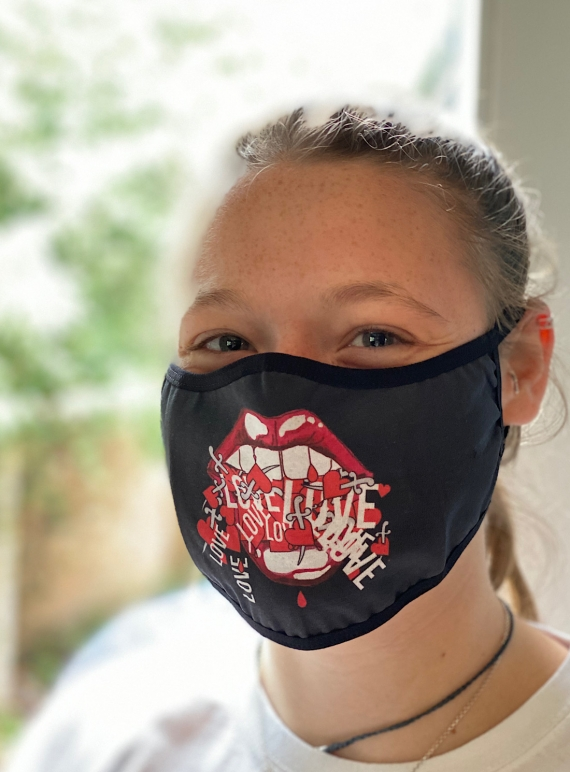 Young British Designers: LOVE Barrier Mask by Natalie B Coleman