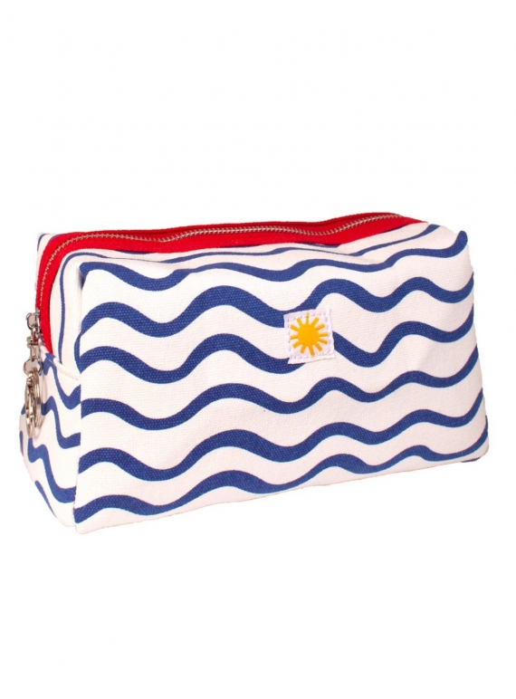 Young British Designers: BLUE WAVE TOILETRY BAG by LF Markey