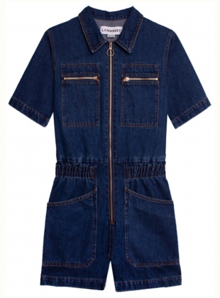 Young British Designers: DANNY PLAYSUIT. Indigo Cotton. by LF Markey