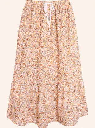 Young British Designers: BLOOM COTTON MIDI SKIRT. Vintage Country Floral by Meadows