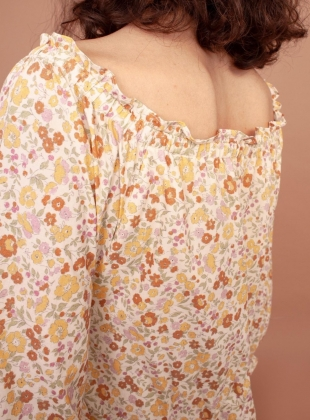 Young British Designers: NERINE VINTAGE FLORAL COTTON DRESS by Meadows