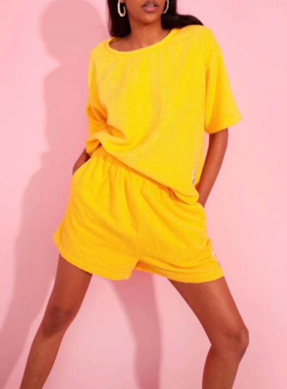 Young British Designers: BASIC TOP. Sunflower Towelling. by LF Markey