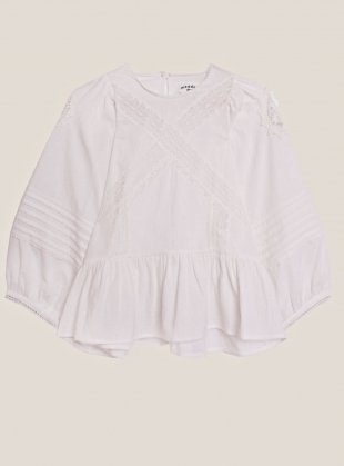 Young British Designers: AZALEA COTTON LACE TOP - Last one (16) by Meadows