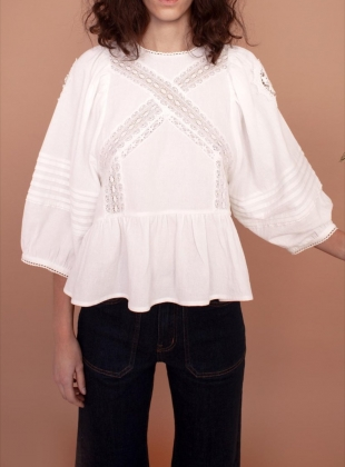 AZALEA COTTON LACE TOP by Meadows