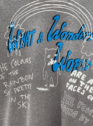 Young British Designers: Classic Tee with Wonderful World Rainbow by Simeon Farrar