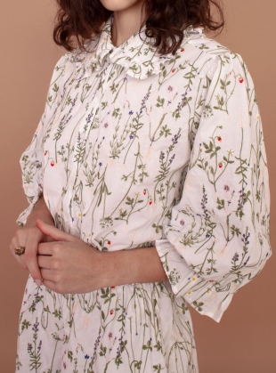 DAHLIA ENGLISH STEMS COTTON SHIRT - Last one (14) by Meadows